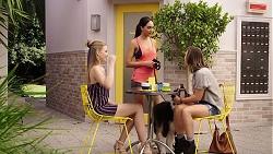 Chloe Brennan, Mishti Sharma, Amy Williams in Neighbours Episode 7858