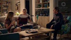 """Piper Willis, Xanthe Canning, Gary """"Gazza"""" Saunders in Neighbours Episode 7858"""