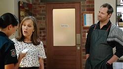 Mishti Sharma, Fay Brennan, Shane Rebecchi in Neighbours Episode 7859