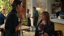 Leo Tanaka, Fay Brennan, Gary Canning, Terese Willis in Neighbours Episode 7859