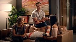 Piper Willis, Aaron Brennan, Mishti Sharma in Neighbours Episode 7860