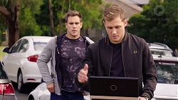 Aaron Brennan, Dilhan Ozdil in Neighbours Episode 7860