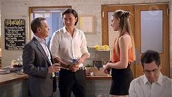 Paul Robinson, Leo Tanaka, Chloe Brennan in Neighbours Episode 7860