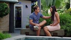 Aaron Brennan, Mishti Sharma in Neighbours Episode 7865