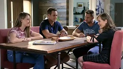 Chloe Brennan, Aaron Brennan, Mark Brennan, Fay Brennan in Neighbours Episode 7866