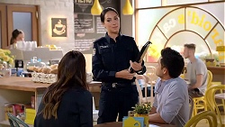 Elly Conway, Mishti Sharma, David Tanaka in Neighbours Episode 7867