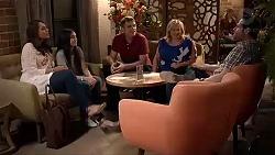 Dipi Rebecchi, Kirsha Rebecchi, Gary Canning, Sheila Canning, Shane Rebecchi in Neighbours Episode 7869