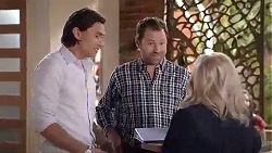 Leo Tanaka, Shane Rebecchi, Sheila Canning in Neighbours Episode 7869