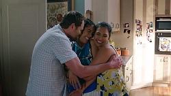 Shane Rebecchi, Yashvi Rebecchi, Dipi Rebecchi in Neighbours Episode 7872
