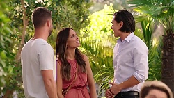 Mark Brennan, Elly Conway, Leo Tanaka in Neighbours Episode 7873