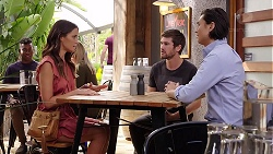 Elly Conway, Ned Willis, Leo Tanaka in Neighbours Episode 7873