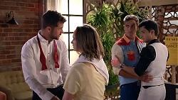Mark Brennan, Amy Williams, Aaron Brennan, David Tanaka in Neighbours Episode 7875