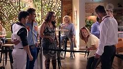 David Tanaka, Aaron Brennan, Dipi Rebecchi, Amy Williams, Mark Brennan in Neighbours Episode 7875