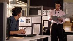 Finn Kelly, Javier Gaetano in Neighbours Episode 7876