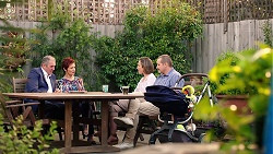 Karl Kennedy, Susan Kennedy, Sonya Mitchell, Toadie Rebecchi in Neighbours Episode 7877