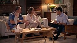 Toadie Rebecchi, Hugo Somers, Sonya Mitchell, David Tanaka in Neighbours Episode 7877
