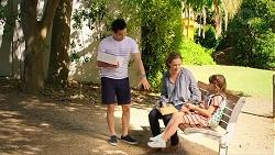 David Tanaka, Sonya Mitchell, Nell Rebecchi in Neighbours Episode 7879