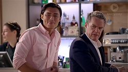 Leo Tanaka, Paul Robinson in Neighbours Episode 7879