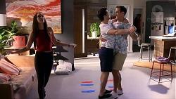 Mishti Sharma, David Tanaka, Aaron Brennan in Neighbours Episode 7879