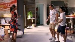 Dipi Rebecchi, Aaron Brennan, David Tanaka in Neighbours Episode 7879