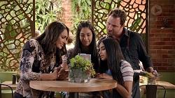 Dipi Rebecchi, Yashvi Rebecchi, Shane Rebecchi, Kirsha Rebecchi in Neighbours Episode 7881