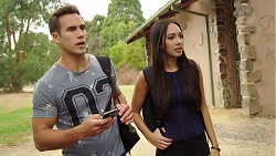 Aaron Brennan, Mishti Sharma in Neighbours Episode 7882