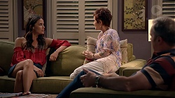 Elly Conway, Susan Kennedy, Karl Kennedy in Neighbours Episode 7882
