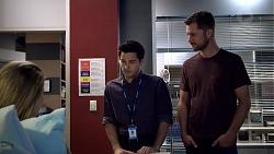 Chloe Brennan, David Tanaka, Mark Brennan in Neighbours Episode 7882