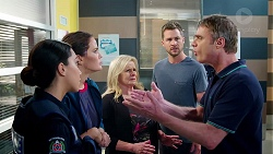 Mishti Sharma, Elly Conway, Sheila Canning, Mark Brennan, Gary Canning in Neighbours Episode 7883