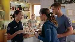 Mishti Sharma, Elly Conway, Mark Brennan in Neighbours Episode 7883