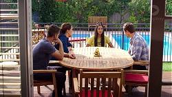 Mark Brennan, Elly Conway, Yashvi Rebecchi, Shane Rebecchi in Neighbours Episode 7883