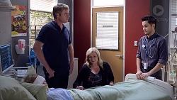 Xanthe Canning, Gary Canning, Sheila Canning, David Tanaka in Neighbours Episode 7884
