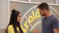 Yashvi Rebecchi, Mark Brennan in Neighbours Episode 7884