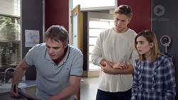 Gary Canning, Cassius Grady, Piper Willis in Neighbours Episode 7885