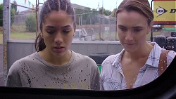 Yashvi Rebecchi, Amy Williams in Neighbours Episode 7889