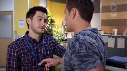 David Tanaka, Aaron Brennan in Neighbours Episode 7891