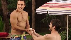 Aaron Brennan, Ned Willis in Neighbours Episode 7891