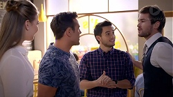 Chloe Brennan, Aaron Brennan, David Tanaka, Ned Willis in Neighbours Episode 7891