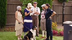 Kirsha Rebecchi, Dipi Rebecchi, Shane Rebecchi, Yashvi Rebecchi, Mishti Sharma, Clancy in Neighbours Episode 7893