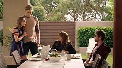 Piper Willis, Cassius Grady, Terese Willis, Ned Willis in Neighbours Episode 7894