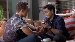Aaron Brennan, David Tanaka in Neighbours Episode 7895