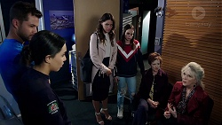 Mark Brennan, Mishti Sharma, Elly Conway, Bea Nilsson, Susan Kennedy, Liz Conway in Neighbours Episode 7896