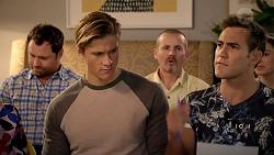 Shane Rebecchi, Cassius Grady, Toadie Rebecchi, Aaron Brennan in Neighbours Episode 7896