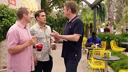 Toadie Rebecchi, Aaron Brennan, Gary Canning in Neighbours Episode 7896