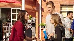 Dipi Rebecchi, Cassius Grady, Piper Willis, Aaron Brennan in Neighbours Episode 7896