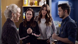 Liz Conway, Bea Nilsson, Elly Conway, David Tanaka in Neighbours Episode 7896
