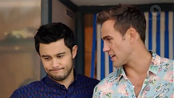 David Tanaka, Aaron Brennan in Neighbours Episode 7896