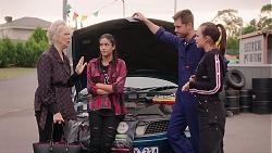 Liz Conway, Yashvi Rebecchi, Mark Brennan, Bea Nilsson in Neighbours Episode 7897