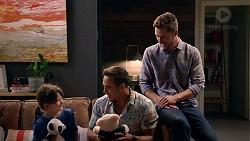 Nell Rebecchi, Aaron Brennan, Mark Brennan in Neighbours Episode 7897