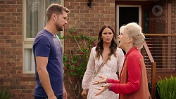 Mark Brennan, Elly Conway, Liz Conway in Neighbours Episode 7898